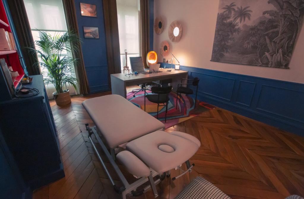 Ambiance douce au cabinet d'ostéopathie de Lyon