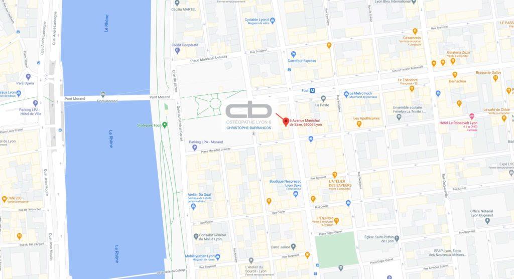 Image de géolocalisation du cabinet d'ostéopathie de Christophe BARRANCOS
