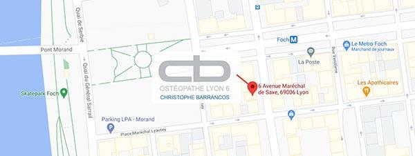 Localisation du cabinet de Christophe BARRANCOS