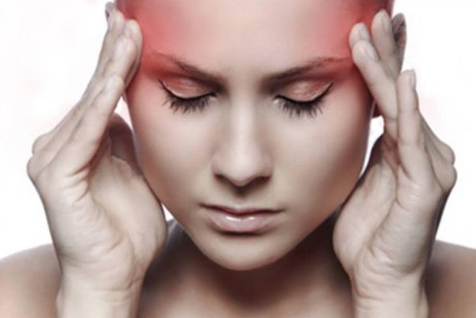 Représentation en image d'une migraine.