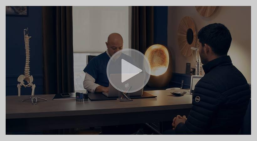 vidéo expliquant le déroulement d'une séance d'ostéopathie